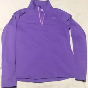 Half zip work out shirt